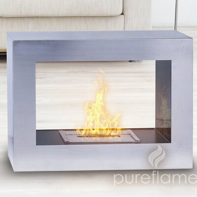 PureFlame Window Flame Bio Ethanol Fireplace