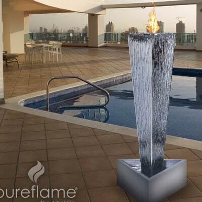 Aquafires Tower of Fire Bio Ethanol Fireplace