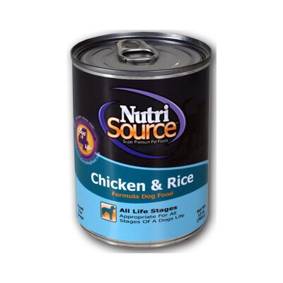 Nutri Source Chicken and Rice Canned Dog Food (13-oz, case of 12)