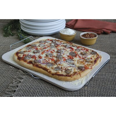 Rectangle Pizza Stone with Wire Frame / 15.2