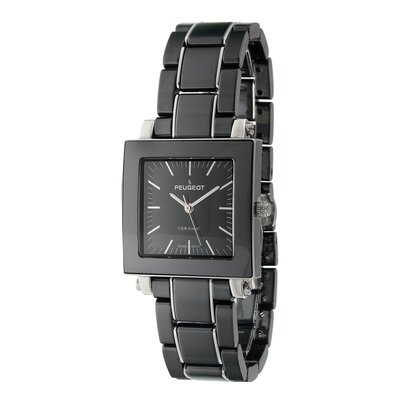Peugeot Swiss Women's Square Dial Watch in Black