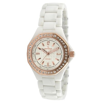 Women's Swarovski Crystal Dial Watch in White