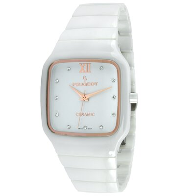 Women's Square Watch in White