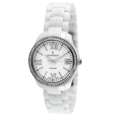 Peugeot Swiss Women's Swarovski Dial Watch in White