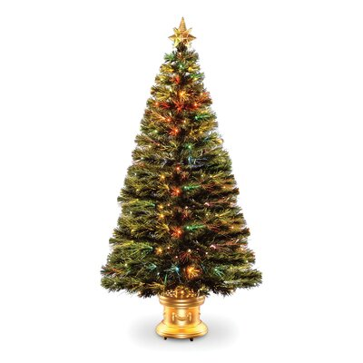 Fiber Optic Radiance Fireworks 5' Green Artificial Christmas Tree