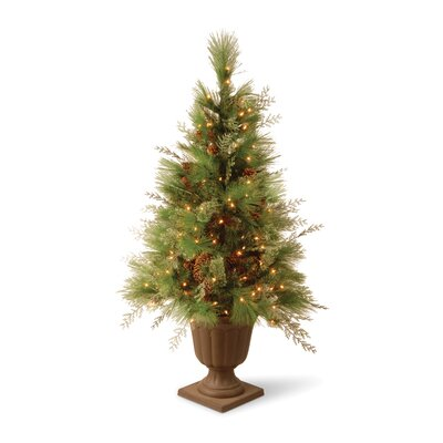 National Tree Co. White Pine 4' Green Entrance Artificial Christmas Tree with Urn Base