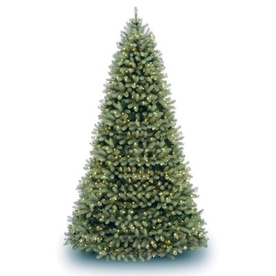 National Tree Co. Douglas Fir Downswept 10' Green Artificial Christmas Tree with Clear Lights ...