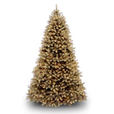 National Tree Co. Douglas Fir Downswept 7.5' Beige Artificial Christmas Tree with Clear Lights with Stand