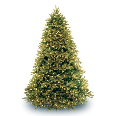 National Tree Co. Jersey Fraser Fir 7.5' Green Artificial Christmas Tree with 1250 Pre-Lit ...