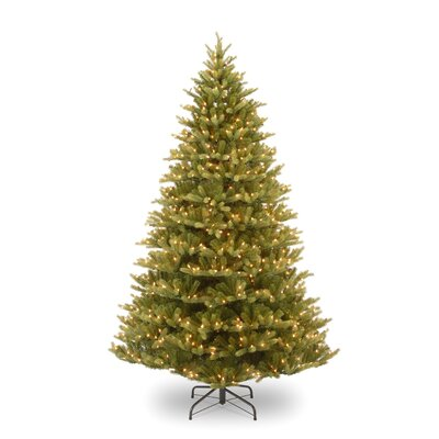 National Tree Co. Normandy Fir 7.5' Green Artificial Christmas Tree with 1000 Pre-Lit Clear ...