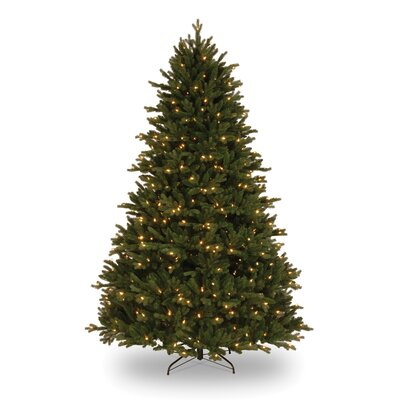 National Tree Co. Royal Fir 7.5' GreenArtificial Christmas Tree with 750 Pre-Lit Clear Lights ...
