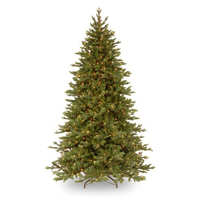 National Tree Co. Pre-Lit 7.5' Green Yukon Fir Artificial Christmas Tree with 750 Pre-Lit Clear ...