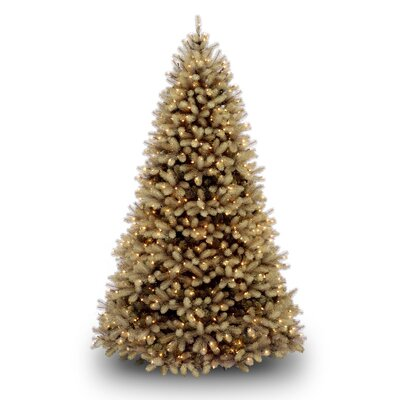 National Tree Co. Douglas Fir Downswept 7.5' Beige Artificial Christmas Tree with LED White Lights with Stand