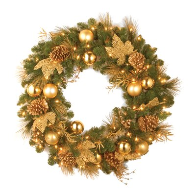 "National Tree Co. Pre-Lit 36"" Elegance Wreath"