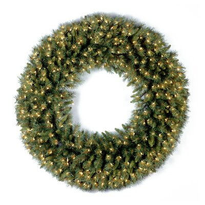 National Tree Co. Pre-Lit 36&quot; Tiffany Fir Wreath