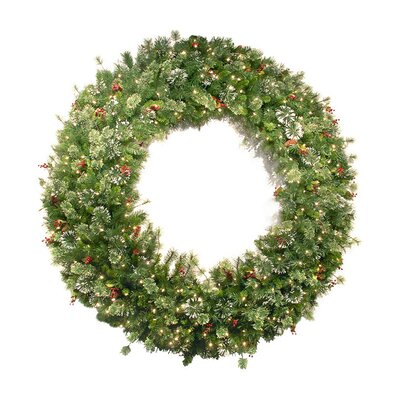 National Tree Co. Wintry Pine Pre-Lit Wreath