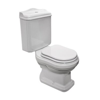 GSI Collection Old Antea Classic Round White Ceramic Floor Toilet