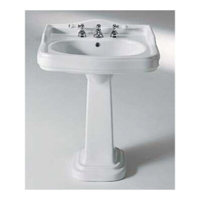Old Antea Classic Style Curved Ceramic Pedestal Sink Wayfair