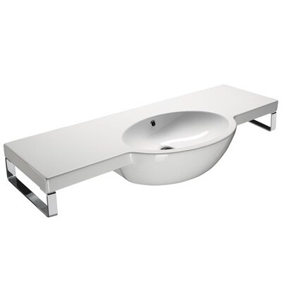 Panorama Contemporary Design Curved Wall Mounted Bathroom Sink - GSI 665211