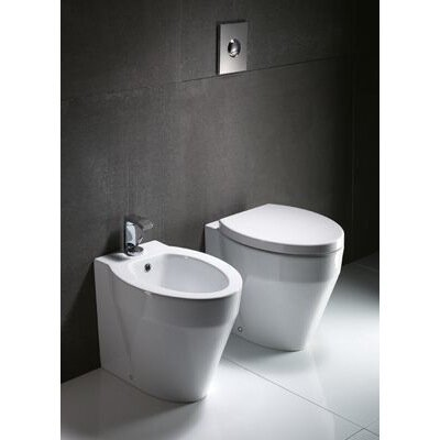 GSI Collection Losagna Contemporary Ceramic Floor Round 1 Piece Toilet