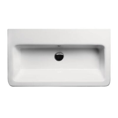 ... wall hung or self-rimming bathroom sink. Features: -Ceramic.-Wall