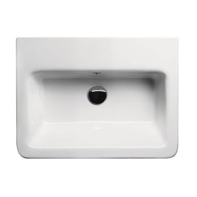 City Modern Rectangular Wall Hung or Self Rimming Bathroom Sink - GSI MCITY8211
