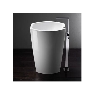 GSI Collection Losagna Oval Trendy Ceramic Floor Bathroom Sink