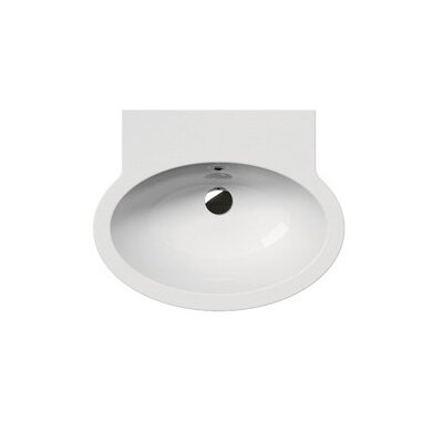 Panorama Contemporary Oval-Shaped Wall Mounted Bathroom Sink - GSI 663811