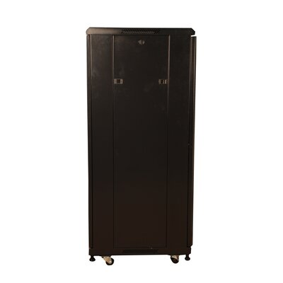 "Gator Cases 27U, 31"" Deep Metal Floor Rack with Glass Door"