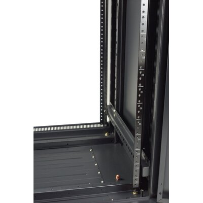 "Gator Cases 47U, 39"" Deep Metal Floor Rack with Glass Door"