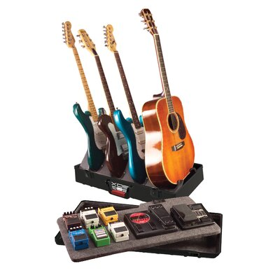 Gator Cases ATA Pedal Board and Guitar Stand in Black