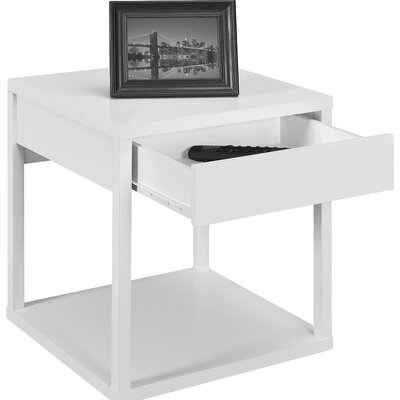 Parsons End Table with Drawer