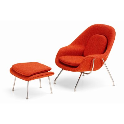 Vitra Miniatures Womb Chair and Ottoman Figurine