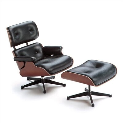 Vitra Miniatures Lounge Chair and Ottoman Figurine