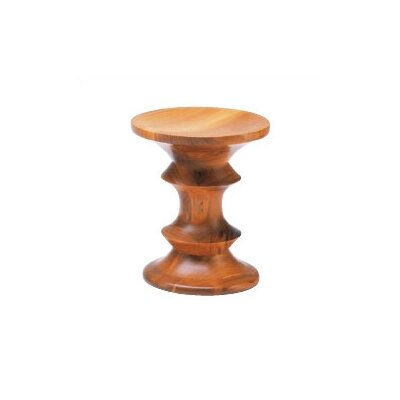 Vitra Miniatures - Model C Walnut Stool by Charles and Ray Eames
