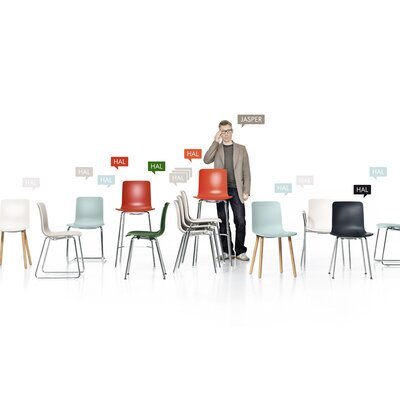 HAL Seating Collection Side Chair-Hal Tube Stackable Side Chair