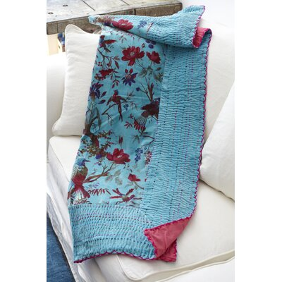 Velvet Bird Wool Throw