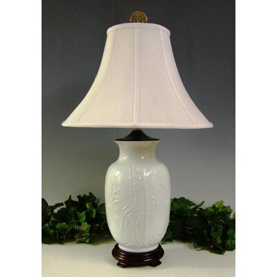 Lamp Factory Opaque Asian Scene 1 Light Table Lamp