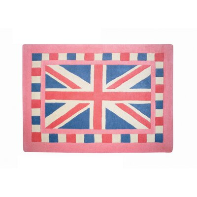 Woven Magic Union Jack Pink Contemporary Rug