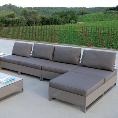 Les Jardins Hegoa Sectional with Taupe Cushion