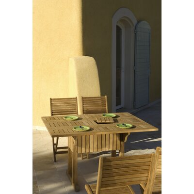 Les Jardins Teak Rectangular Drop Leaf Table
