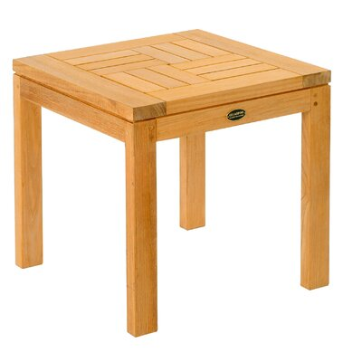 Les Jardins Teak Criss - Cross Side Table
