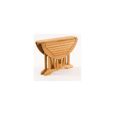 Les Jardins Teak Gate Round Leg Table