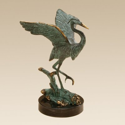 SPI Home Single Heron Figurine
