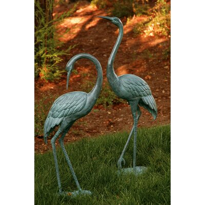 SPI Home Medium Garden Crane Pair Statue