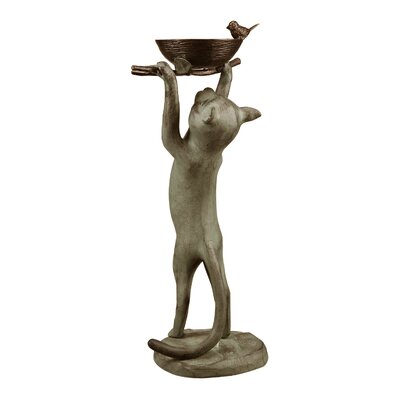 Cat Bird Feeder Statue