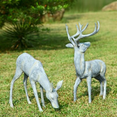 SPI Home Garden Deer Pair Statue
