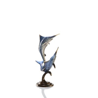 SPI Home Double Marlin Statue