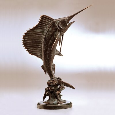 SPI Home Tail Walker Sailfish Sculpture
