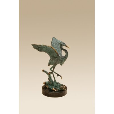 SPI Home Single Heron Statue